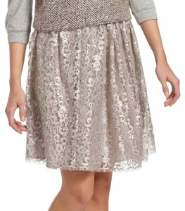 Anthropologie Skirt Beige Silver