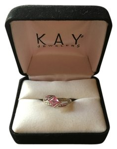 Kay Jewelers Pink Sapphire and white Gold ring