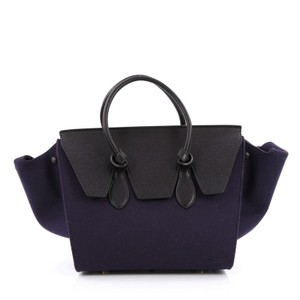 Céline Celine Leather Tote in Blue and Black