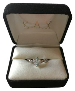 Kay Jewelers Aquamarine and white Gold ring