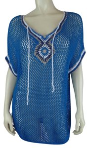 Tommy Bahama New Boho Crochet See-thru Dolman Sweater