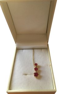 Kay Jewelers Ruby, Diamond, and yellow Gold necklace
