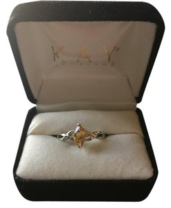 Kay Jewelers Citrine and white Gold ring
