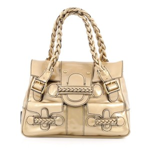 Valentino Leather Satchel in Gold