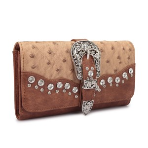 Other Ostrich Leather Tri-fold Wallet