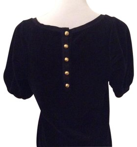 Juicy Couture Velvet Embellished Evening Comfortable Top Black