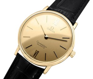 Omega 1979 Omega Constellation Mens Vintage Quartz Accuset Watch - 18K Gold