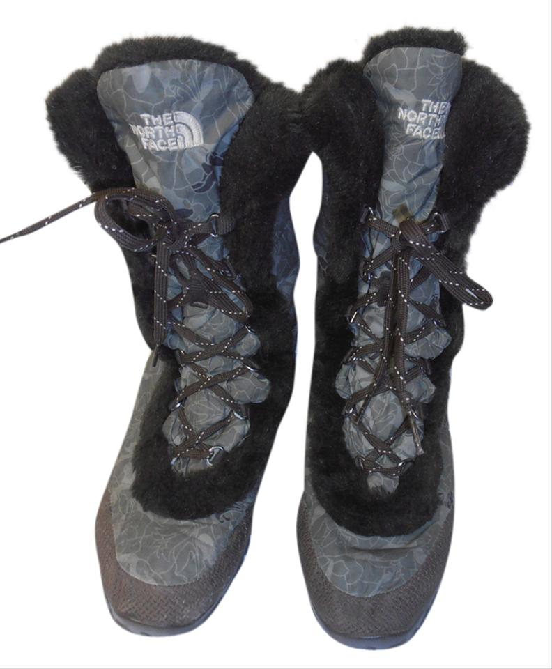2ac85df88 The North Face Khaki Green/Brown Black Quilted Puffer Tall Winter Women'  Boots/Booties Size US 8 Regular (M, B)