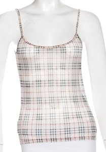 Burberry Nova Check Plaid Monogram Top Beige, Ivory