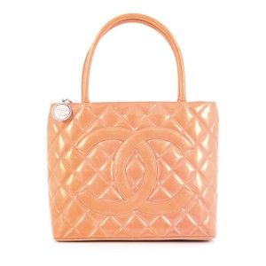 Chanel Leather Tote in Peach