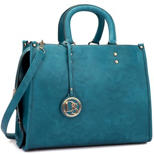 Large Satchel in Turquoise