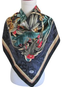 Tommy Bahama Beautiful Black Jungle Tropical Silk Scarf - 35