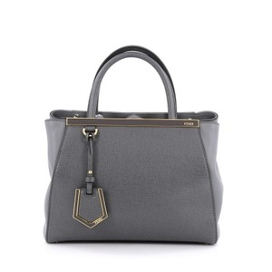 Fendi Leather Tote in Grey