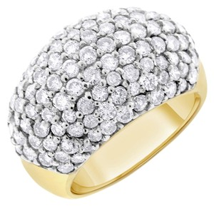 Other 3.28 Carat Natural Diamond Pave Dome Ring In Solid 14k Yellow Gold