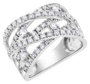 Other 1.05 Carat Natural Diamond Crossover Scattered Diamond Ring In Solid