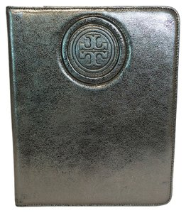 Tory Burch Double-T stacked Logo Metallic Leather IPad 2 Case