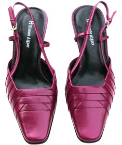 Etienne Aigner Leather Heels Purple Pumps