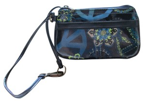 Mudd Peace Floral Casual Wristlet in Multicolored