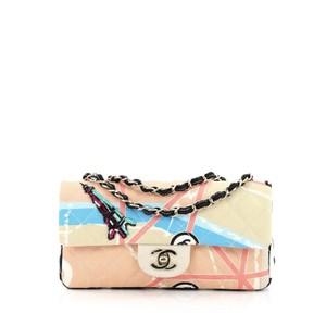 Chanel Canvas Beige Clutch