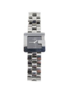 Gucci Gucci Silver Square G with Black Face 3600J Bracelet Watch