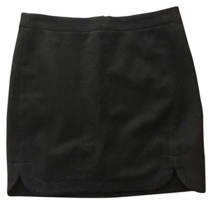 J.Crew Wool Lined Mini Skirt Black