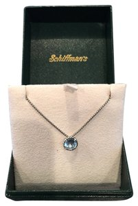 David Yurman Chatelaine Pendant Necklace with Blue Topaz
