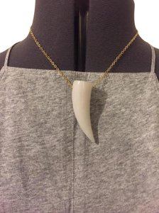 CC SKYE New w/ tag CC Skye white jade horn necklace on gold plated chain.