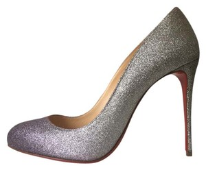 Christian Louboutin Dorissima Green Purple Silver Pumps