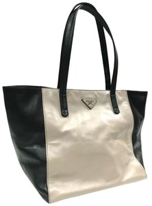 Prada Tote in Black Grey
