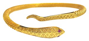 DeWitt's Gorgeous Heavy High Karat Gold Snake Flexible Cuff Bracelet