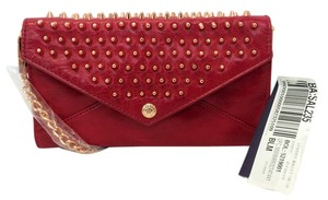 Rebecca Minkoff Red Leather Studded Chain Wallet
