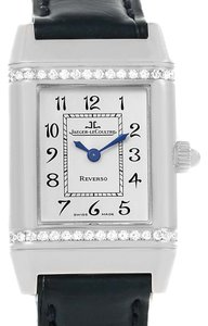 Jaeger-LeCoultre Jaeger LeCoultre Reverso Florale Ladies Steel Diamond Watch 265.8.08