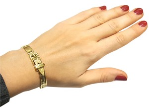 DeWitt's Vare and Beautiful 18K Gold Belt Buckle Bracelet