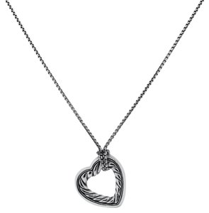 David Yurman David Yurman Sterling Silver/18k Heart Necklace
