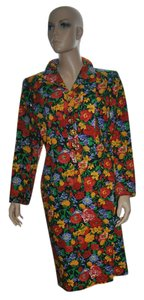 Saint Laurent Vintage Yves Saint Laurent Suit Floral 100% Cotton size 44!!!!! Made