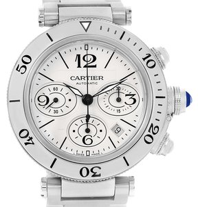 Cartier Cartier Pasha Seatimer Chronograph Mens Watch W31089M7 Unworn