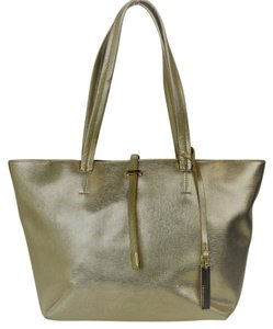 Vince Camuto Faux Leather Tote in GOLD
