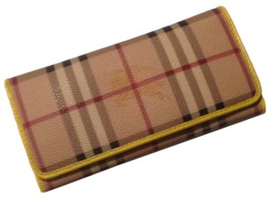 Burberry Authentic Burberry Haymarket Yellow Wallet
