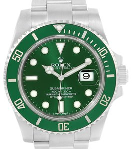 Rolex Rolex Submariner Hulk Green Dial Steel Mens Watch 116610LV Box Papers
