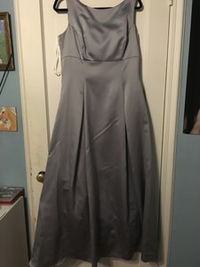 Jim Hjelm Occasions Grey Sleeveless A Line Dress Dress