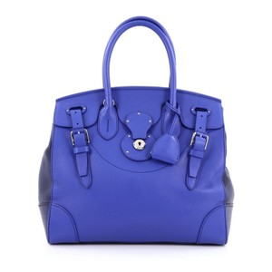 Ralph Lauren Collection Leather Satchel in Blue