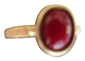 Chico's NEW Chicos Goldtone 'Parker' Red Stone Ring Size 8