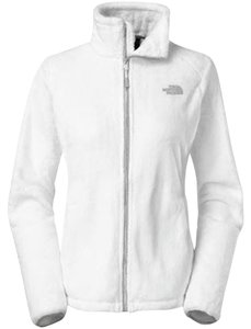 The North Face Pet And Smoke Free Osito Coat TNF WHITE/METALLIC SILVER Jacket
