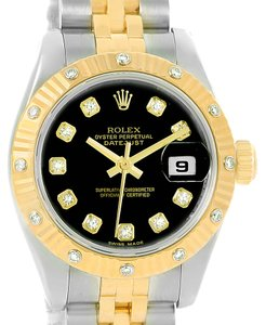 Rolex Rolex Datejust Ladies Steel 18k Yellow Gold Diamond Watch 179313