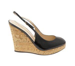 Saint Laurent Black Wedges
