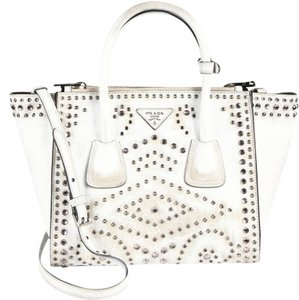 Prada Vintage Embellished Tote in White