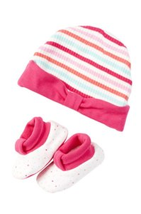 Kate Spade Kate Spade New York Cap & Bootie Set (Baby Girls)