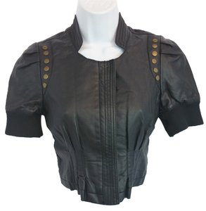 Kouture by Kimora Black Faux Leather Top