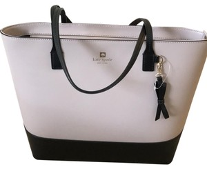 Kate Spade Leather New Tote in Beige and black
