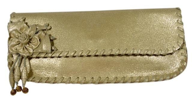 Item - Gold Leather Clutch